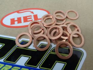 HEL M10 Copper Crush Washers - 15 Pack